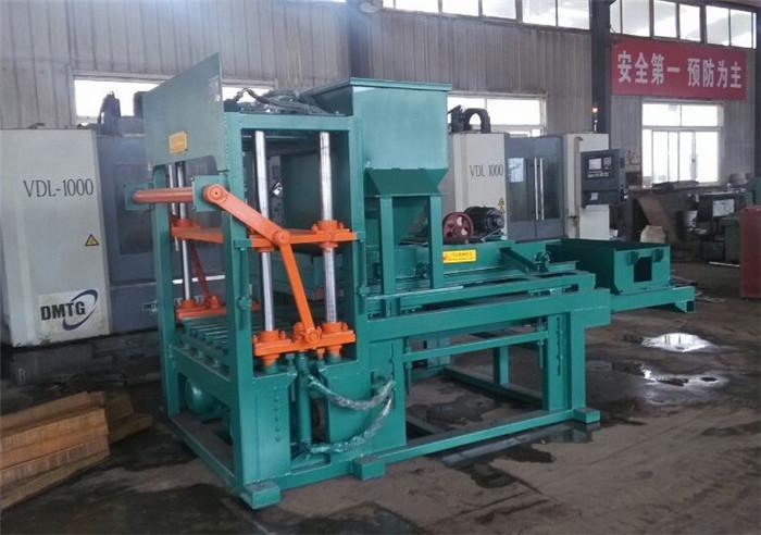 QT5-20 big size semi automatic hydraulic concrete brick making machine, full block production line