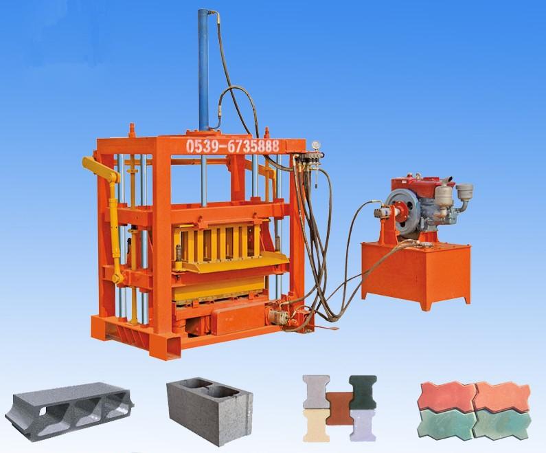 QT4-30 small hydraulic concrete block machine for cement blocks, interlocking briks