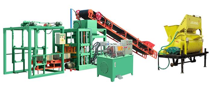 QT4-20 medium size hydraulic concrete interlocking brick making machine, cement brick machine for pavers