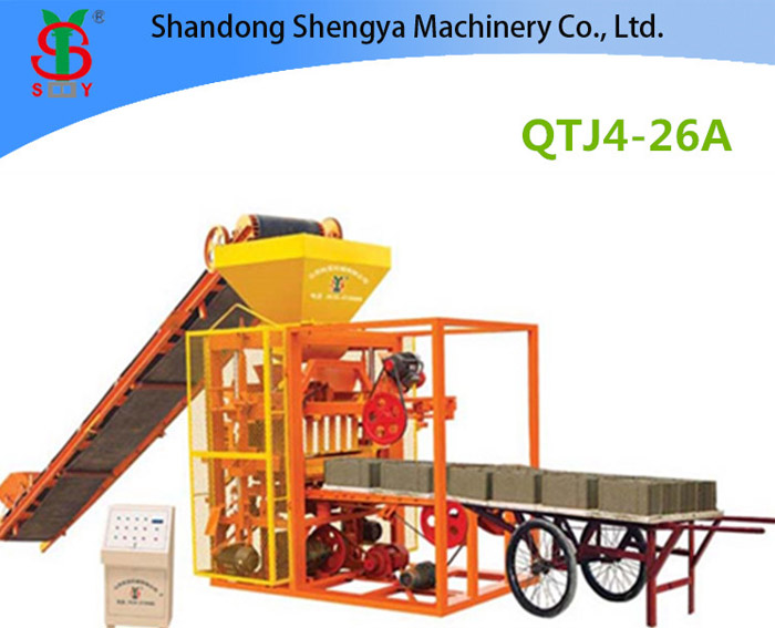 QTJ4-26 A Semi automatic concrete block making machine